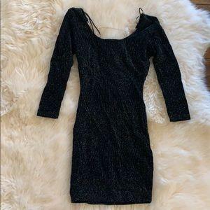 Forplay bodycom knit dress black shimmery